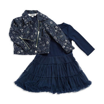 Pippa & Julie Girls 2-6x Two Piece Party Dress and Jacket