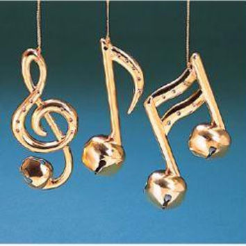 12 Christmas Ornaments - Musical Notes