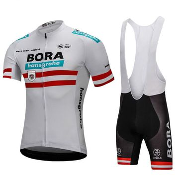 Bora 2018 Austria Champion Cycling Jersey Set Short Sleeve Jersey Cycling Clothing Road Bike Mtb Riding Apparel Ropa Ciclismo