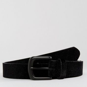 ASOS Smart Slim Belt With Black Velvet at asos.com