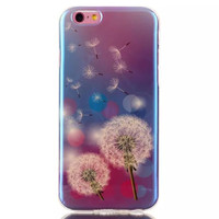 Dandelion Blue Light creative case Cover for iPhone & Samsung Galaxy S6  Unique iPhone 6s Plus