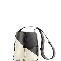Paco Rabanne 16#01 Patchwork Two-Tone Mini Hobo Bag