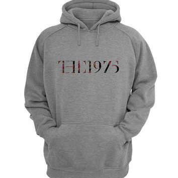 the 1975 Hoodie Sweatshirt Sweater Shirt Gray for Unisex size with variant colour
