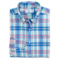 Long Bay Plaid Sport Shirt in Legacy Blue by Southern Tide