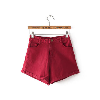 Summer High Rise Simple Design Pants Shorts [4918044036]