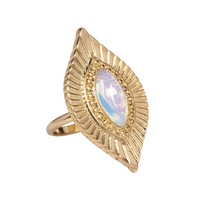 Go West n' Wild Ring in Opal and Gold
