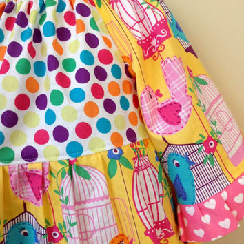Toddler Peasant Dress Baby Dress Thanksgiving Dress Girls Dress Pink Yellow Blue Boutique Clothing By Lucky Lizzy's