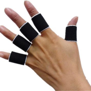 10pcs Sports Protective Gear Guard Support Wraps Basketball Volleyball Football Finger Stall Sleeve Protector Protection Gloves