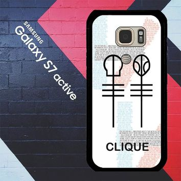 Twenty One Pilots Skeleton Clique X3438 Samsung Galaxy S7 Active Case