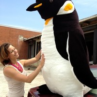 American Made Soft Stuffed Giant 5 Foot Penguin Big Huge Stuffed Animal Made in the USA America