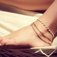 Cute Sexy Shiny Jewelry Gift New Arrival Ladies Accessory Stylish Simple Design Handcrafts Anklet [11652547727]