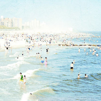 Large Wall Art Coney Island Beach Photography, Large Scale Art, Big Prints, Ocean Photography, Nautical Theme 30x40