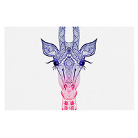 "Monika Strigel ""Rainbow Giraffe"" Decorative Door Mat"