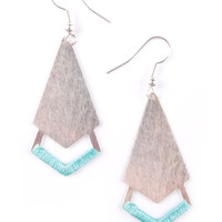 Threaded Arrow Earrings Silver