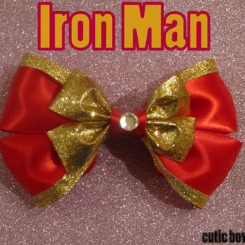 Iron Man Hair Bow Marvel Inspired