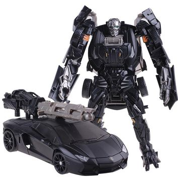 KBB Cool Plastic ABS + Alloy Transformation Robot Car Toys Anime Brinquedos Movie 4 Action Figures Classic Model Toys Boys Gifts