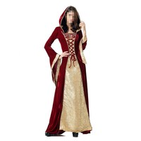 New Arrival Halloween Costume Gothic Renaissance Medieval Costume Mythic Fancy Dress Long Sleeves Court Costume Queen Costume