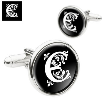 Monogram Cufflinks, Personalized Mens Cufflinks, Custom Initial Cufflinks, Special Gift for Fathers, Groom, Husbands