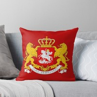 'GEORGIA COAT OF ARMS' Throw Pillow by planetterra