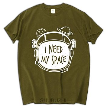I Need My Space hip-hop cotton short sleeve pattern t-shirt