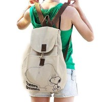 Snoopy Girl's Casual Korean Style Canvas Backpack/ Handbag/ Schoolbag