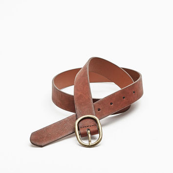 Large buckle belt - Belts - Bershka United States