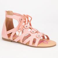 Yokids Daphne Girls Sandals Pink  In Sizes