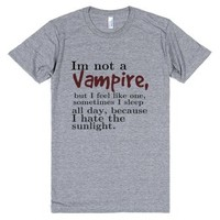 Im not a vampire-Unisex Athletic Grey T-Shirt