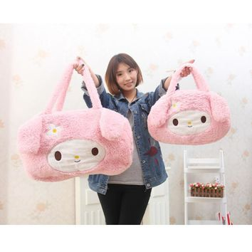 Kawaii Hello Kitty Plush Backpack 22-45cm Lovely Cat Plush Bag for Shopping Big Mommy Plush Bag Soft Plush Doll