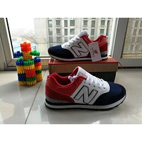"""New Balance"" Fashion Casual N Words Breathable Unisex Sneakers Couple Running shoes"