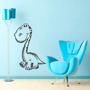 DINOSAUR BABY KIDS ROOM NURSERY  WALL VINYL STICKER  DECALS ART MURAL B380