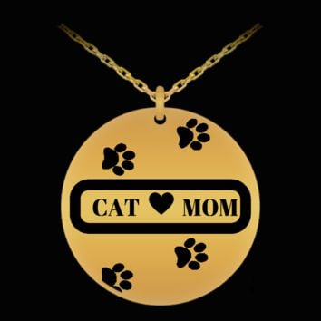 *Attention Cat Mom Jewelry Lovers* Turn your Jewelry into a Piece of Purrrfect Cat Art! Hint: Perfect Cat Mom Engraved Necklace Gift