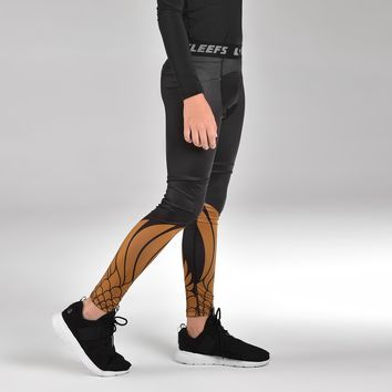 Icarus Black and Gold Tights for kids