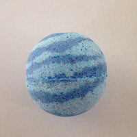 Neptune, Blueberry lemon bath bomb, Blue bath bomb