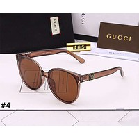 GUCCI 2019 new men and women models large frame driving retro polarized sunglasses #4