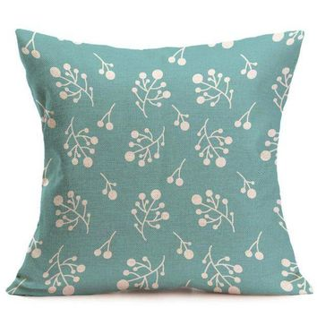 DCCKU7Q Geometry Print Square Pillow Cover Cushion Case  Pillowcase Zipper Closure