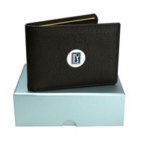 PGA Tour Leather Bifold Wallet (Brown)