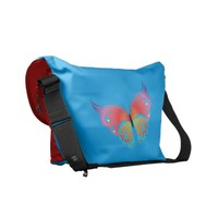 amazing colored butterfly courier bag