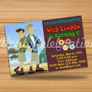 Wild Kratts Design Invitaion - Digital File