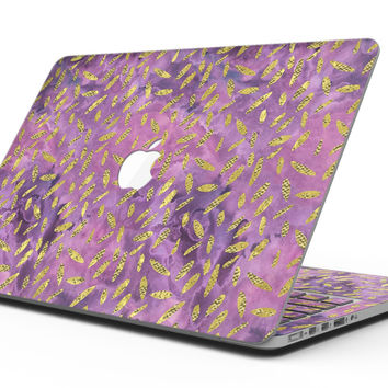 Daisy Pedals Over Purple Cloud Mix - MacBook Pro with Retina Display Full-Coverage Skin Kit