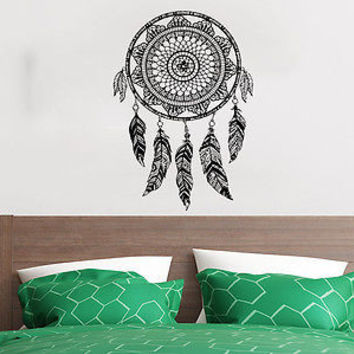 Wall Decal Dreamcatcher Dream Catcher Feathers Night Symbol Indian Decor C523