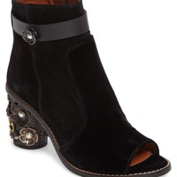 COACH Floral Embellished Open Toe Bootie (Women) | Nordstrom