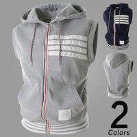 Trendy Men Hoodie Vest Tank Top