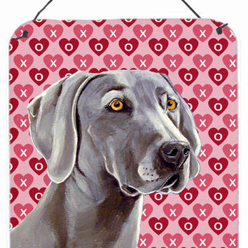 Weimaraner Hearts Love and Valentine's Day Portrait Wall or Door Hanging Prints