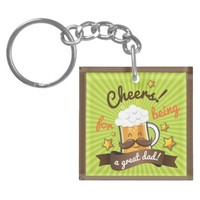 Cheers For Dad Keychain