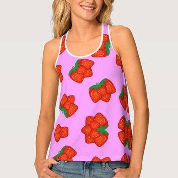Strawberry pattern tank top
