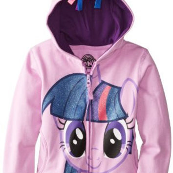 FREEZE Little Girls' My Little Pony Twilight Sparkle Hoodie, Purple Multi, 4