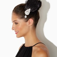Glam Flapper Feather Hair Clip | Accessories - RSVP Special Occasion | charming charlie