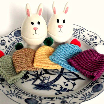 Easter Crochet Egg Warmers Easter Decoration Spring gift Easy Easter Head  Funny Easter Egg Hats