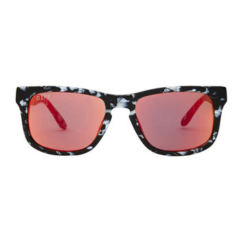 RILEY - BLACK / WHITE FRAME - RED GOLD MIRROR LENS